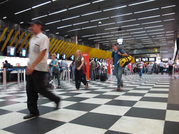 Aeroviários prometem entrar em greve a partir das 6h de quinta-feira (23) (Foto: Paulo Toledo Piza/G1)