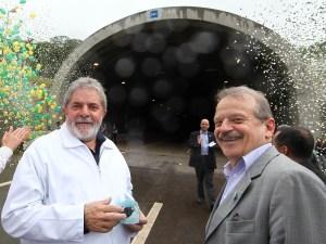 Presidente Lula e o governador eleito do Rio Grande do Sul, Tarso Genro, durante visita em Osório (RS).