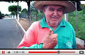 Morador de Borá em vídeo promocional da campanha.