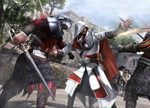Modo on-line de 'Brotherhood' traz confrontos entre assassinos. (Foto: Divulgação)