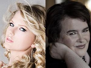 Taylor Swift já superou Susan Boyle na parada da Billboard duas vezes