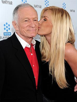 Hugh Hefner e a namorada, Crystal Harris