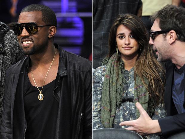 O rapper Kanye West e o casal de astros Penélope Cruz e Javier Bardem aproveitaram o feriado de natal para assistir a um dos jogos mais esperados da temporada da NBA: o duelo entre o Miami Heat e o Lakers. A partida aconteceu em Los Angeles e o time convi