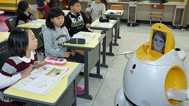 Robôs substituem professores em salas de aula da Coreia do Sul