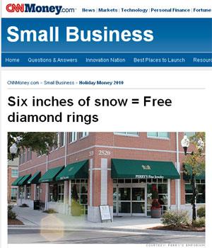 Promoção transforma neve em joias gratuitas para clientes nos EUA