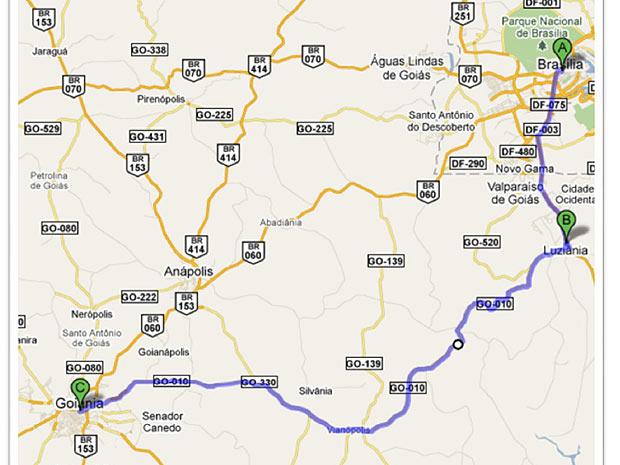 G1  Aps interditao de estrada PRF mostra como ir de Braslia