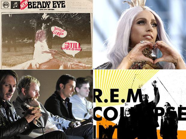 Beady Eye, Lady Gaga, Franz Ferdinand e REM lançam discos em 2011
