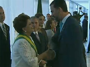 Dilma e príncipe Felipe