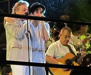 Fiuk e Fábio Jr cantam juntos no réveillon da Avenida Paulista