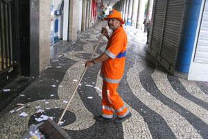 Rio recolhe 610 t de lixo após festa (Aluizio Freire/G1)