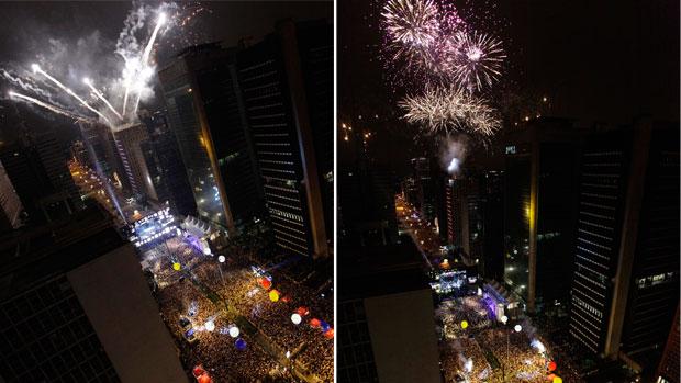 Avenida Paulista ganha espetáculo de cores (Nelson Antoine / Foto Arena / AE)