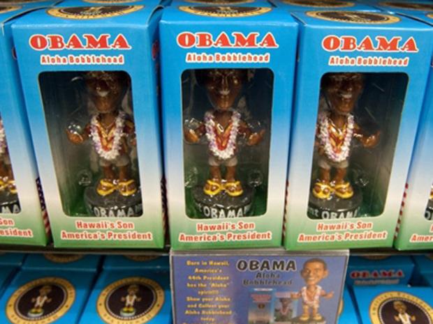 Obama férias boneco