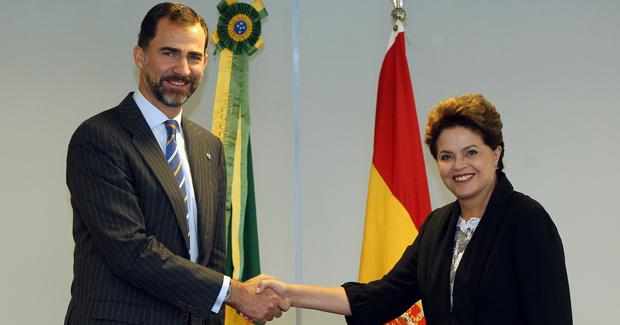 Presidenta Dilma Rousseff recebe em audiência o Príncipe Felipe de Astúrias
