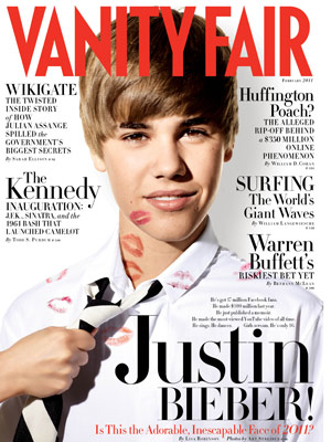 O cantor Justin Bieber na capa da 'Vanity Fair' (Foto: AP)