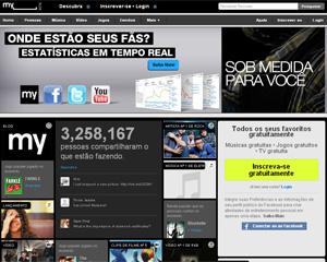 MySpace foi reformulado em um site de entretenimento (Foto: Reprodução)
