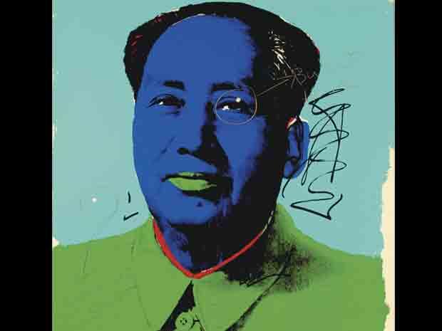 Quadro de Mao Tsé-Tung pintado por Andy Warhol também será leiloado. Peça tem dois furos de bala de revólver provocados pelo próprio Hopper em uma noite de bebedeira. Em vez de se irritar, arista circulou os furos em sua tela e deu coautoria ao astro de 'Easy rider'.
