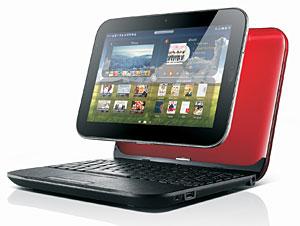 Tablet da Lenovo se acopla a base e vira notebook.
