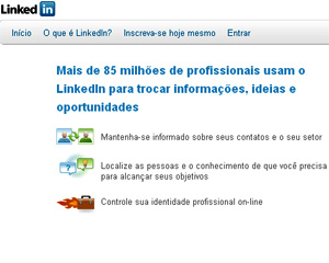 LinkedIn, rede social profissional (Foto: Reprodu&#231;&#227;o)