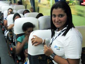 Rodomoças são novidade em linha de ônibus do Rio