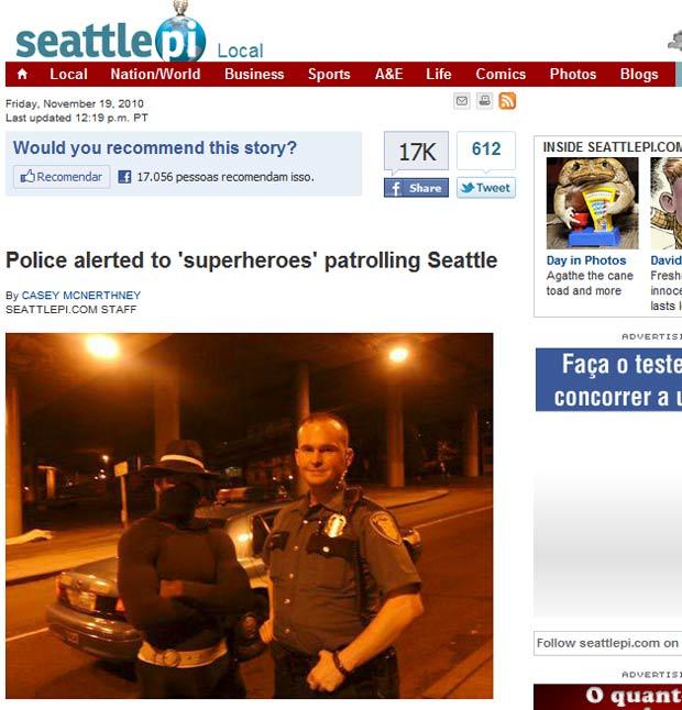 Grupo de 'super-heróis' tem patrulhado as ruas de Seattle durante a noite.