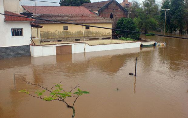 Enchente em Santa Rita do Sapucaí