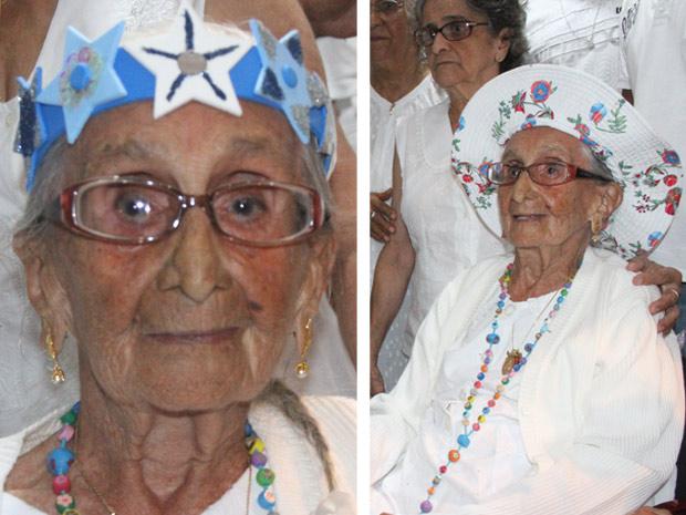 Dona Canô foi coroada durante festa do Terno de Reis, em Santo Amaro, na noite deste sábado (8)