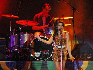 Amy Winehouse em show no Rio (Foto: Alexandre Durão/G1)