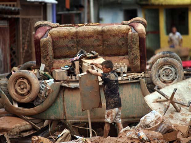 Chuva causou destruição e deixou mortos na Zona Sul da capital