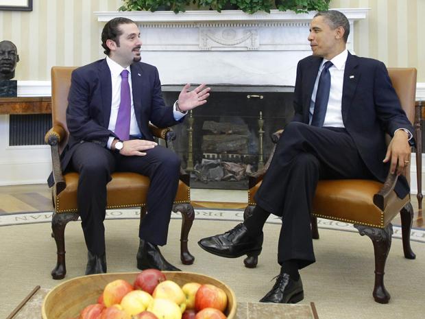 O premiê do Líbano, Saad al-Hariri, é recebido pelo presidente dos EUA, Barack Obama, nesta quarta-feira (12), na Casa Branca.