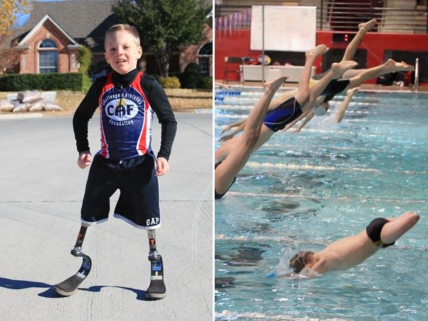 Cody superou as dificuldades para competir em vários esportes.