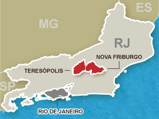 Mapa Região Serrana