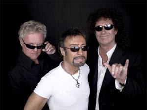 O Queen, com o vocalista Paul Rodgers ao centro