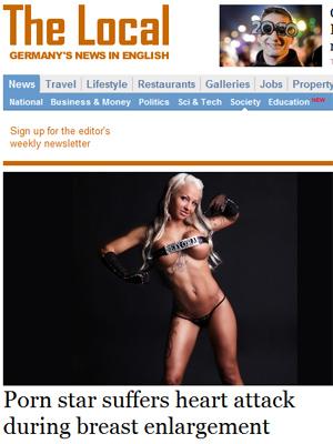 A atriz Sexy Cora em foto divulgada pela imprensa local.