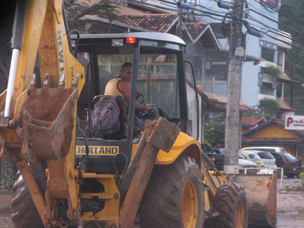 Operarios retomam trabalho em Itaipava