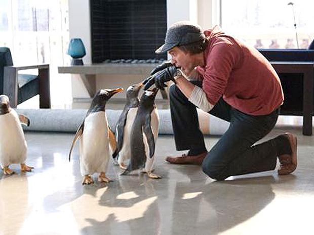 Jim Carrey em cena de 'Mr. Popper's Penguins' (Foto: Divulgação/Fox)