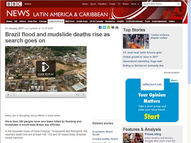 No site da rede britânica BBC, extensa matéria fala sobre as dificuldades do resgate e a morte de bombeiros nas operações.