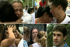 'Na rua, tinha muitos moradores tentando ajudar, corpos no chão...' (Reprodução/TV Globo)