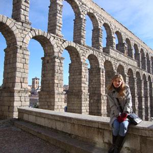 Foto de Rúbia Dalla Pria na Europa