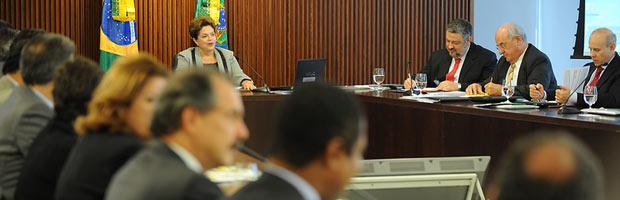 A presidente Dilma Rousseff na reunião ministerial