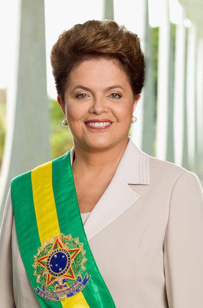 A foto oficial da presidente Dilma Rousseff, do autoria do fotógrafo da Presidência, Roberto Stuckert Filho