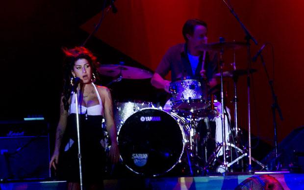 Amy Winehouse durante show em São Paulo