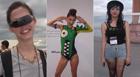 Frequentadores desfilam roupas excêntricas (Karen Lessa/G1)