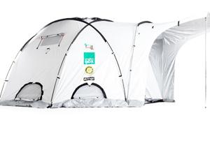 Tendas para vítimas da chuva