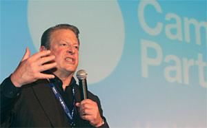 Al Gore, ex-vice-presidente dos EUA, em palestra na Campus Party