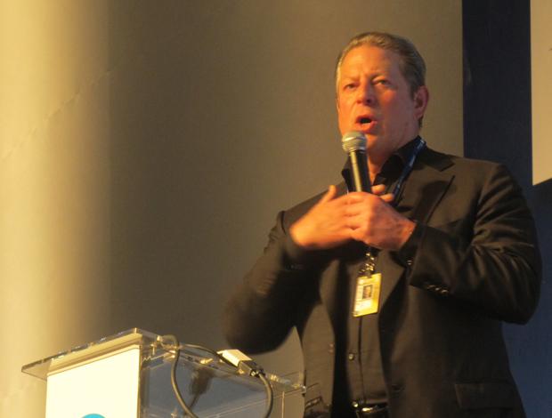 O ex-vice-presidente dos EUA Al Gore fala nesta terça-feira (18) em São Paulo.