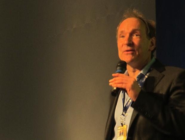 Tim Berners-Lee, criador da World Wide Web, na Campus Party nesta terça-feira (18) em São Paulo.