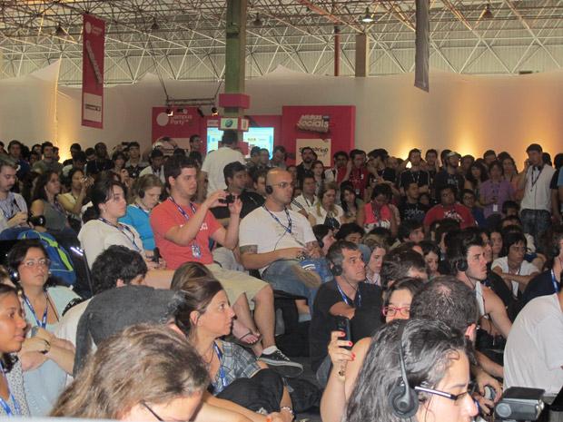 Público compareceu em peso para palestras de Al Gore e Tim Berners-Lee.