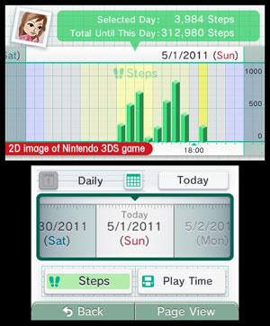 O Activity Log grava todas as atividades do jogador durante o dia, inclusive o quanto ele caminhou.