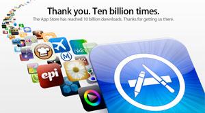 Apple comemora 10 bilhões de apps vendidos.