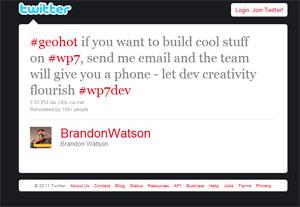 Diretor de experiência de usuário do Windows Phone 7 ofereceu celular de graça ao hacker